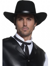 Wild West Gunslinger Hat In Black